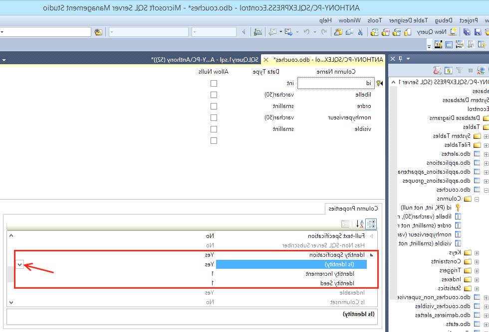 Créer un champ auto-incrémenté avec SQL Server